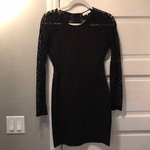 Parker Vita black lace cocktail dress size M